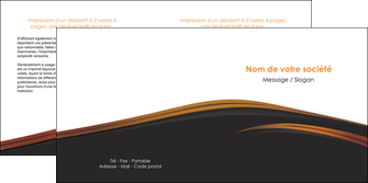 modele en ligne depliant 2 volets  4 pages  web design gris fond gris orange MIF73609