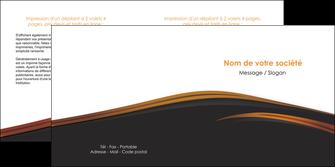 modele en ligne depliant 2 volets  4 pages  web design gris fond gris orange MLGI73609