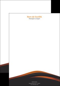 imprimerie tete de lettre web design gris fond gris orange MLGI73611