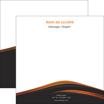personnaliser modele de flyers web design gris fond gris orange MIF73613