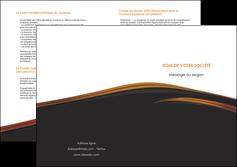 faire modele a imprimer depliant 2 volets  4 pages  web design gris fond gris orange MLGI73619
