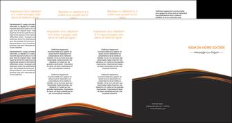 imprimer depliant 4 volets  8 pages  web design gris fond gris orange MLGI73625