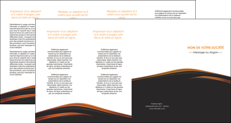 imprimer depliant 4 volets  8 pages  web design gris fond gris orange MIF73625