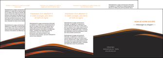 exemple depliant 4 volets  8 pages  web design gris fond gris orange MLGI73627