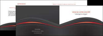impression depliant 2 volets  4 pages  web design gris fond gris gris metallise MLIP73963