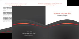 personnaliser maquette depliant 2 volets  4 pages  web design gris fond gris gris metallise MLGI73977