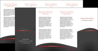 imprimerie depliant 4 volets  8 pages  web design gris fond gris gris metallise MLGI73995