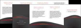 faire modele a imprimer depliant 4 volets  8 pages  web design gris fond gris gris metallise MLGI73997