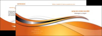 cree depliant 2 volets  4 pages  web design texture contexture structure MLIG74171