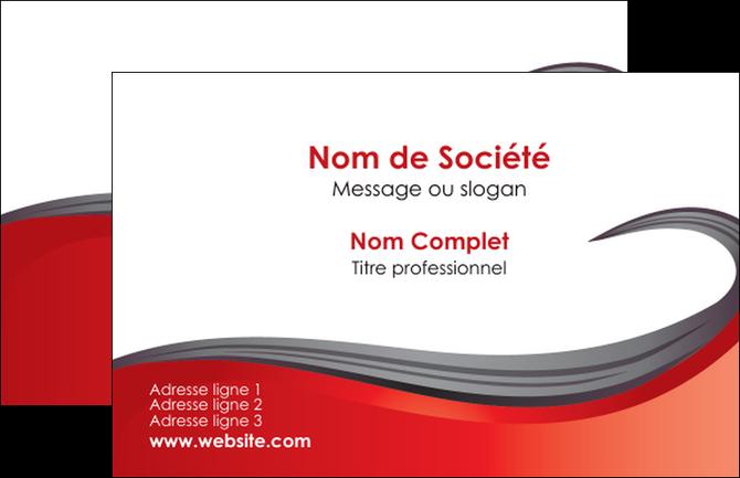 Personnaliser Maquette Carte De Visite Web Design Rouge Fond Bande MLGI74381