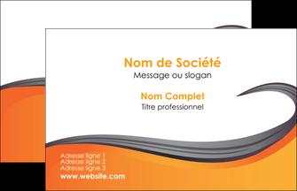 Imprimerie Carte De Visite Orange Fond Couleur MLGI74433