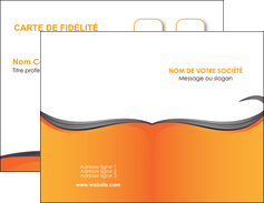 exemple carte de visite orange fond orange couleur MIF74443