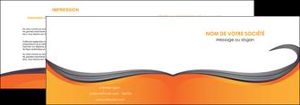 maquette en ligne a personnaliser depliant 2 volets  4 pages  orange fond orange couleur MIF74451