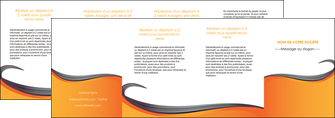 exemple depliant 4 volets  8 pages  orange fond orange couleur MIF74483