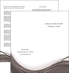 modele depliant 2 volets  4 pages  web design gris fond gris abstrait MLGI74581