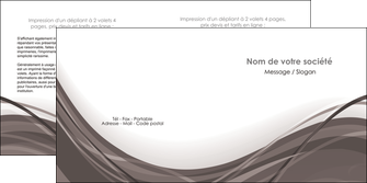 personnaliser modele de depliant 2 volets  4 pages  web design gris fond gris abstrait MLGI74583