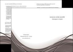 maquette en ligne a personnaliser depliant 2 volets  4 pages  web design gris fond gris abstrait MLGI74593