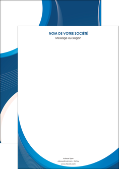 personnaliser modele de affiche web design bleu fond bleu couleurs froides MIF74607