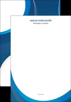 maquette en ligne a personnaliser affiche web design bleu fond bleu couleurs froides MIF74609