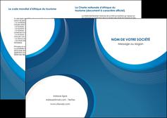 faire depliant 2 volets  4 pages  web design bleu fond bleu couleurs froides MIF74611