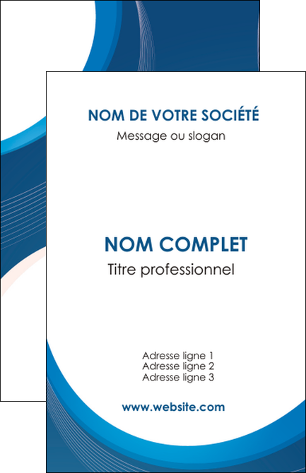 Realiser Carte De Visite Web Design Bleu Fond Couleurs Froides MLGI74615
