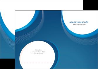 creer modele en ligne pochette a rabat web design bleu fond bleu couleurs froides MIF74617