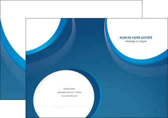 faire pochette a rabat web design bleu fond bleu couleurs froides MIF74619