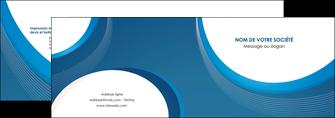 personnaliser modele de depliant 2 volets  4 pages  web design bleu fond bleu couleurs froides MIF74621