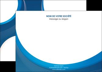 maquette en ligne a personnaliser affiche web design bleu fond bleu couleurs froides MIF74629