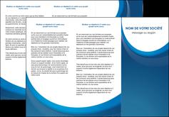 cree depliant 3 volets  6 pages  web design bleu fond bleu couleurs froides MIF74631