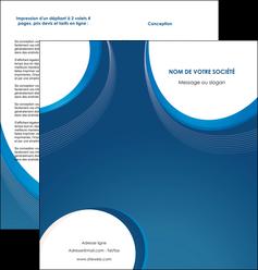 personnaliser modele de depliant 2 volets  4 pages  web design bleu fond bleu couleurs froides MIF74633