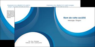 imprimer depliant 2 volets  4 pages  web design bleu fond bleu couleurs froides MIF74635