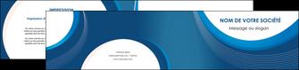 modele en ligne depliant 2 volets  4 pages  web design bleu fond bleu couleurs froides MIF74641