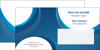 maquette en ligne a personnaliser enveloppe web design bleu fond bleu couleurs froides MIF74643