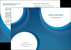 modele depliant 2 volets  4 pages  web design bleu fond bleu couleurs froides MIF74645