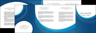 imprimerie depliant 4 volets  8 pages  web design bleu fond bleu couleurs froides MIF74647
