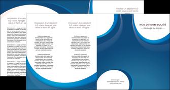creer modele en ligne depliant 4 volets  8 pages  web design bleu fond bleu couleurs froides MIF74651