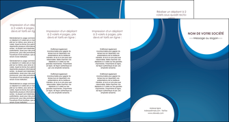 creer modele en ligne depliant 4 volets  8 pages  web design bleu fond bleu couleurs froides MLIG74651