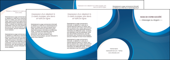 personnaliser modele de depliant 4 volets  8 pages  web design bleu fond bleu couleurs froides MIF74653