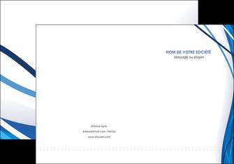 imprimer pochette a rabat web design bleu fond bleu couleurs froides MLGI74669