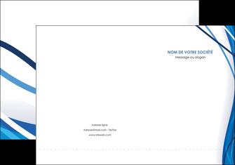 impression pochette a rabat web design bleu fond bleu couleurs froides MLGI74671