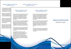 imprimerie depliant 3 volets  6 pages  web design bleu fond bleu couleurs froides MLGI74683