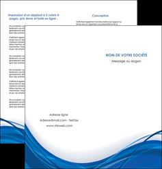 exemple depliant 2 volets  4 pages  web design bleu fond bleu couleurs froides MLGI74685