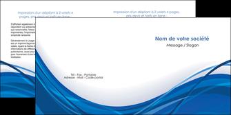 cree depliant 2 volets  4 pages  web design bleu fond bleu couleurs froides MLGI74687