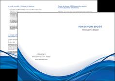 faire modele a imprimer depliant 2 volets  4 pages  web design bleu fond bleu couleurs froides MLGI74697