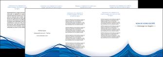maquette en ligne a personnaliser depliant 4 volets  8 pages  web design bleu fond bleu couleurs froides MLGI74699