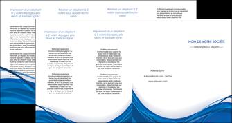impression depliant 4 volets  8 pages  web design bleu fond bleu couleurs froides MLGI74703
