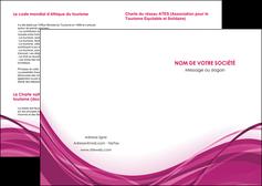 creer modele en ligne depliant 2 volets  4 pages  violet fond violet mauve MIF74715