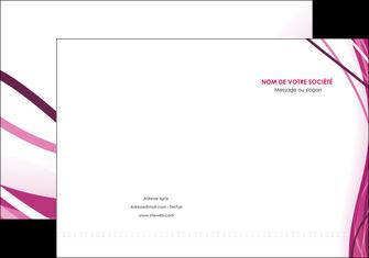 personnaliser modele de pochette a rabat violet fond violet mauve MIF74721