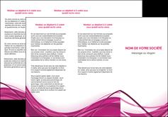 personnaliser modele de depliant 3 volets  6 pages  violet fond violet mauve MIF74735